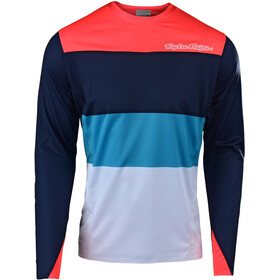 Troy Lee Designs Sprint Elite Bike Jersey Longsleeve Men red/blue